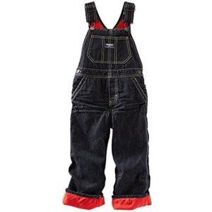 OshKosh B'gosh fleece lined overalls